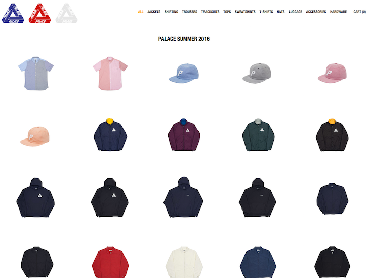 Ecommerce Website Design - Palace