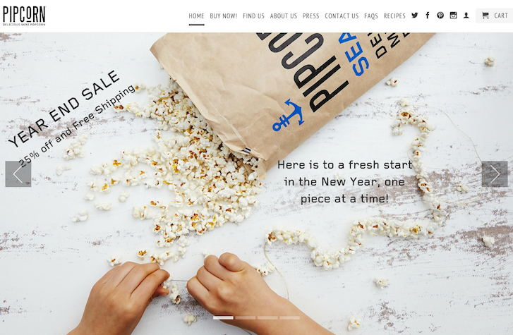 Ecomerce Website Design - Pipcorn