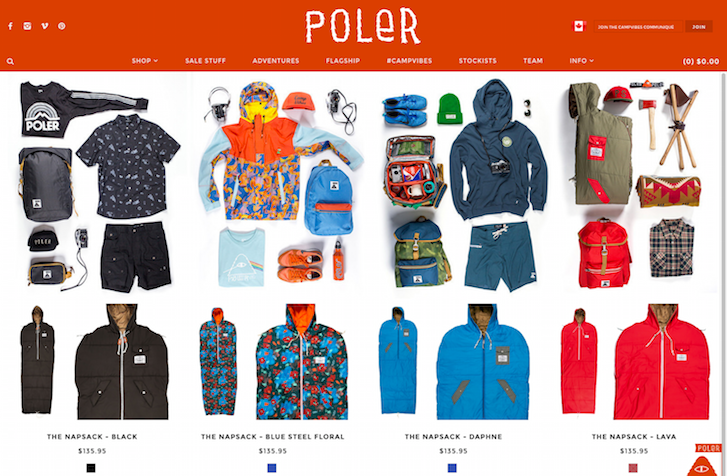 Ecommerce Website Design - Poler Stuff