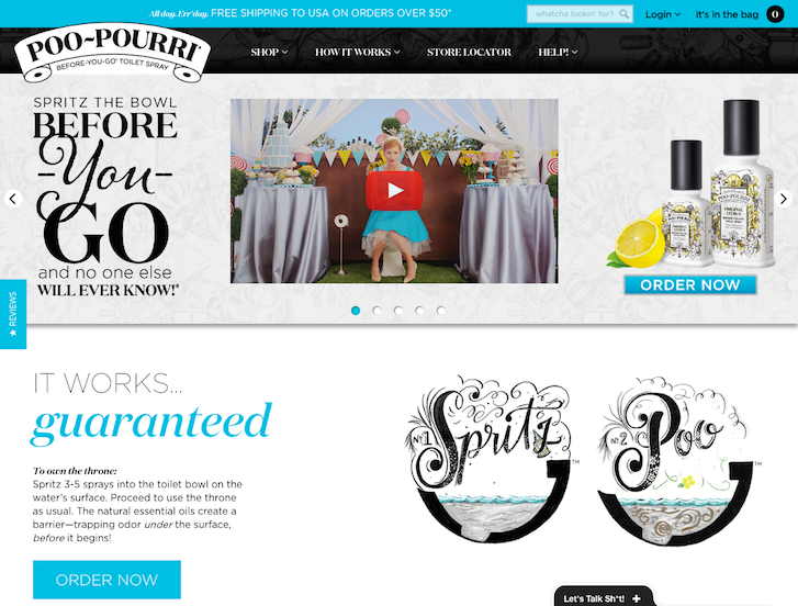 Ecommerce Website Design - Poo Pourri