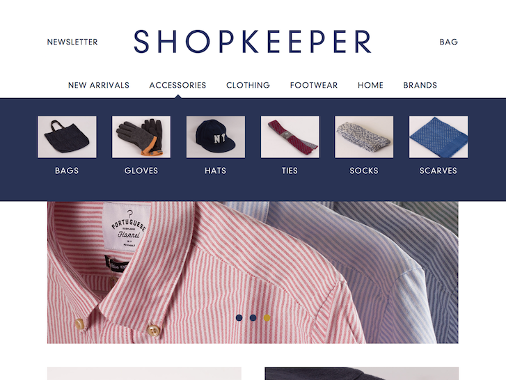 Ecommerce Website Design - Shopkeeper