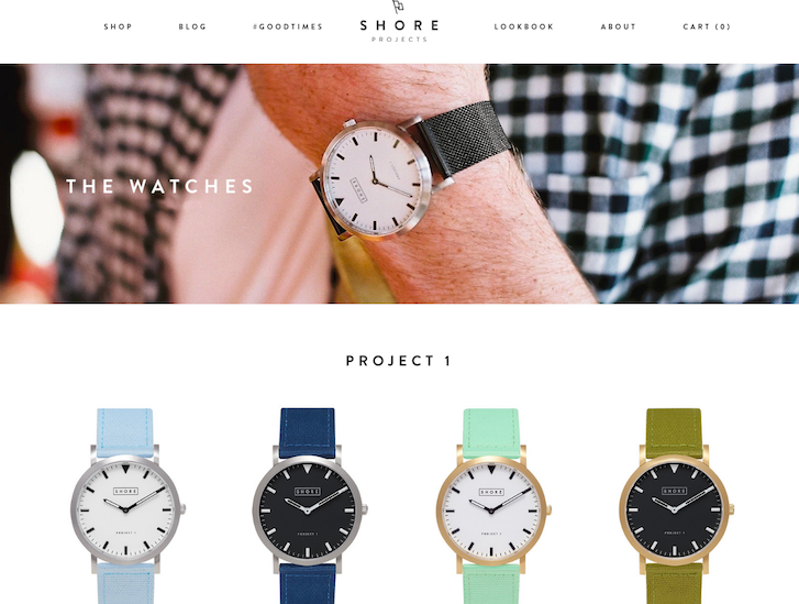 Ecommerce Website Design - Shore Projects