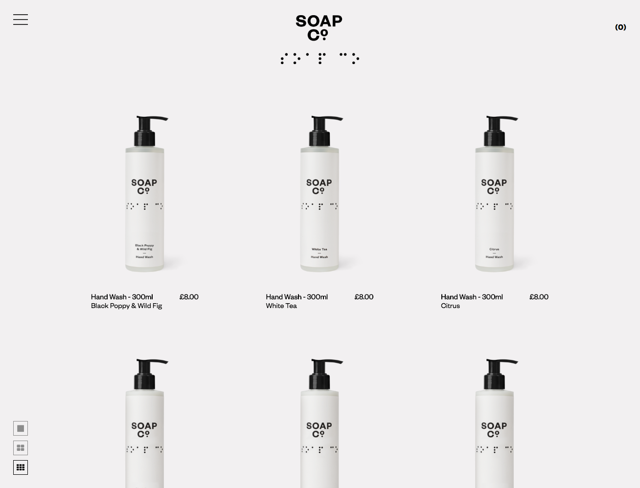 Ecommerce Website Design - The Soap Co