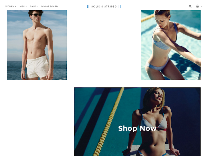 Ecommerce Website Design - Solid and Stripped