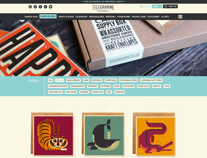 Ecommerce Website Design - Telegramme