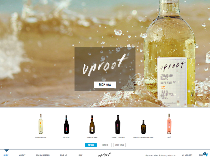 Ecommerce Website Design - Uproot