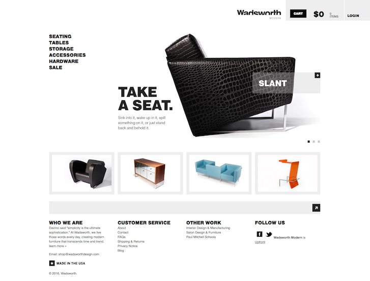 Ecommerce Website Design - Wadsworth