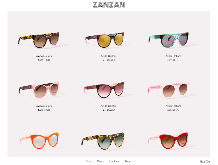 Ecommerce Website Design - Zanzan