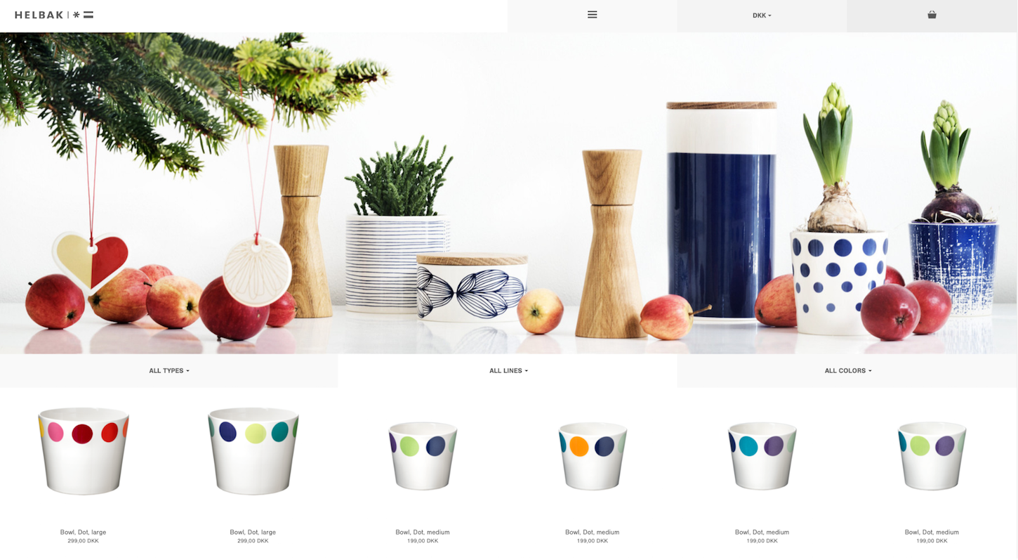 Ecommerce Websites: Helbak Product Page