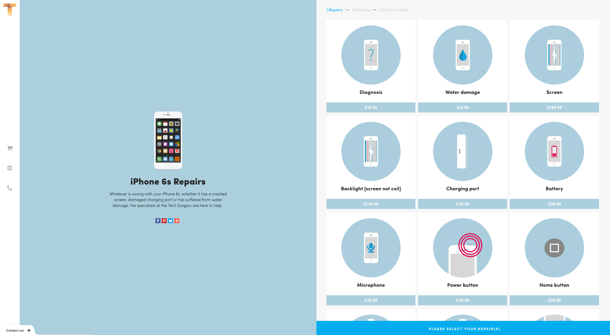 Ecommerce Websites: iPhone Surgery Product Page