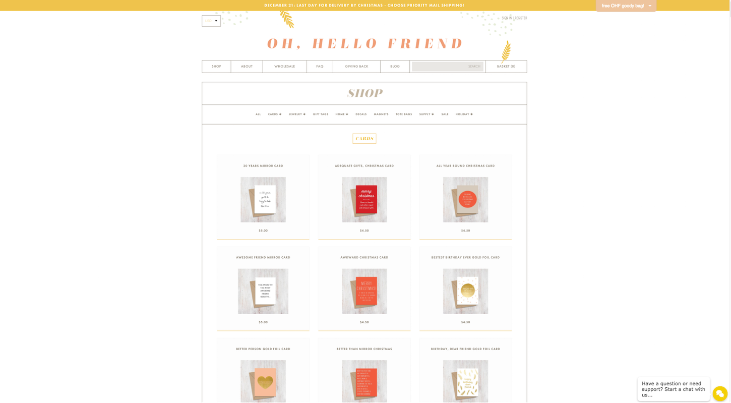 Ecommerce Websites: Oh, hello friend. Product Page