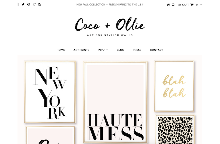 11 Inspirational Art and Photography Ecommerce Website Designs