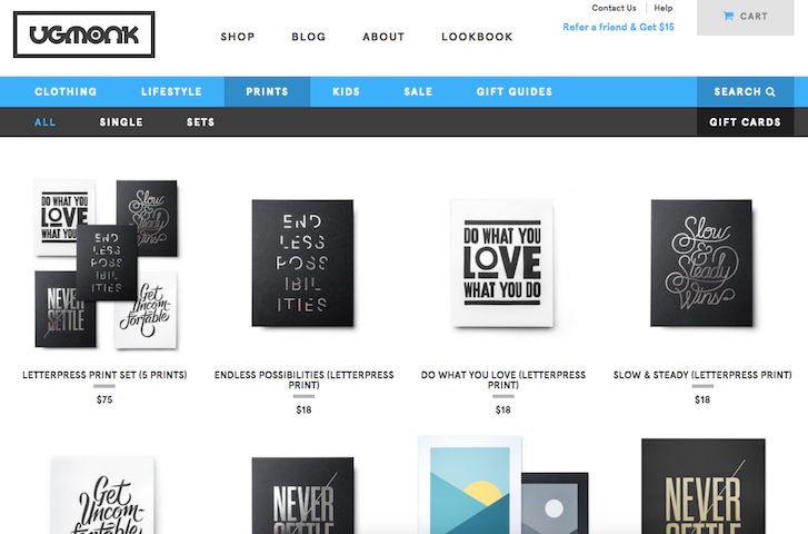 Ecommerce Website Design: Ugmonk