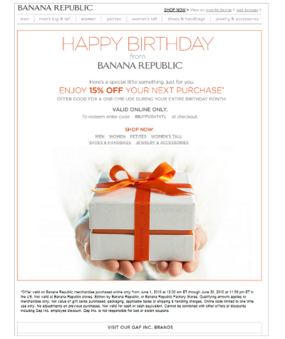 email personalization happy birthday example