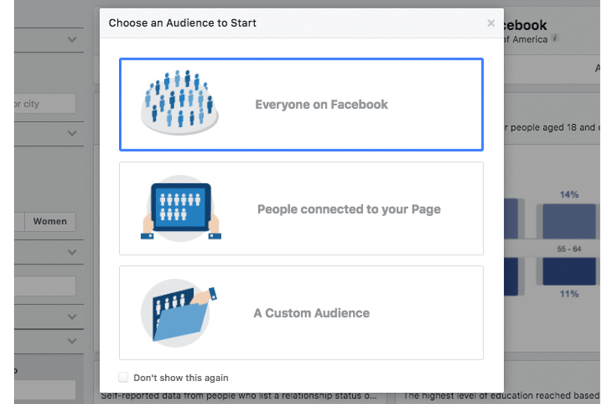 facebook marketing: audience insights