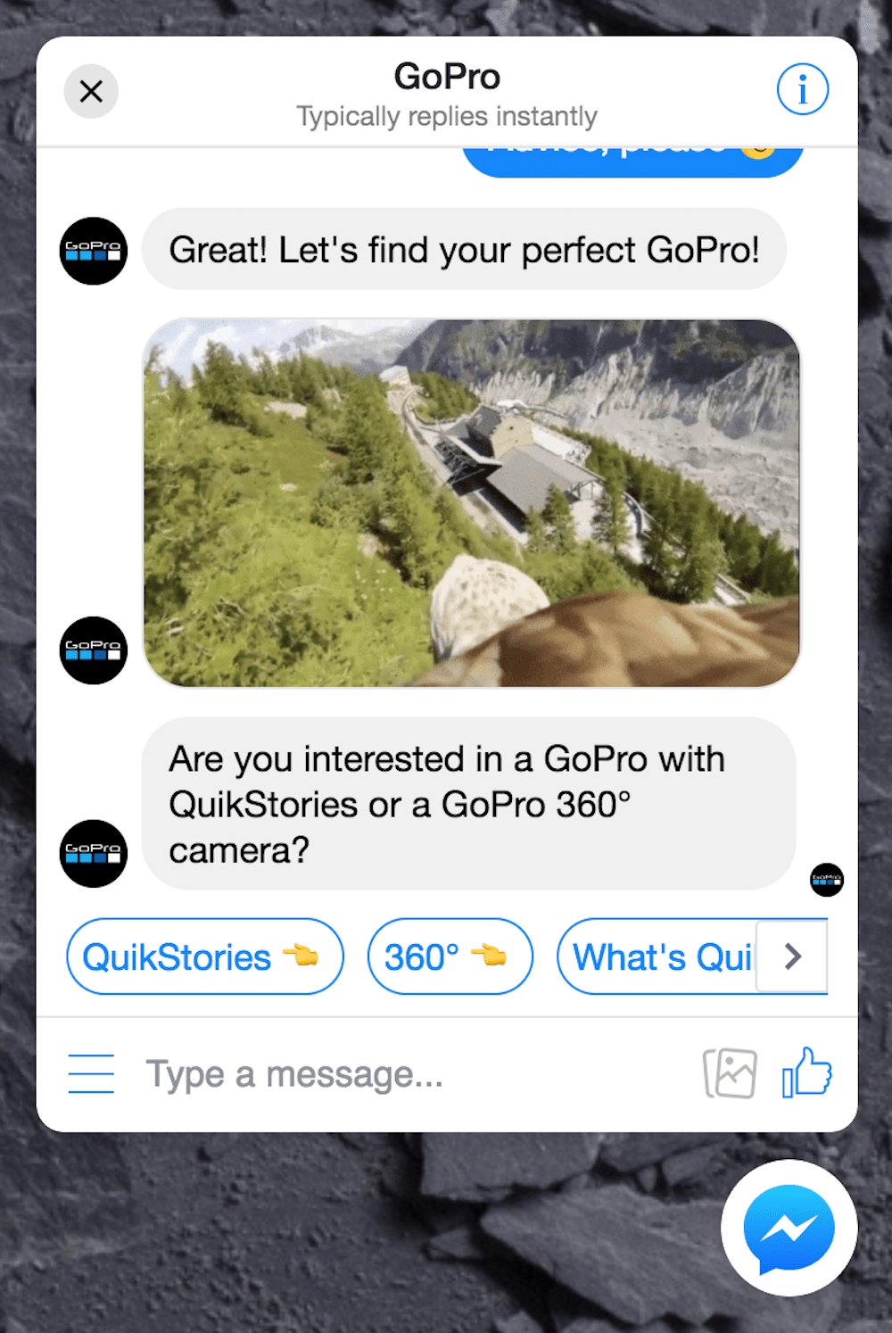 facebook messenger marketing: product discovery