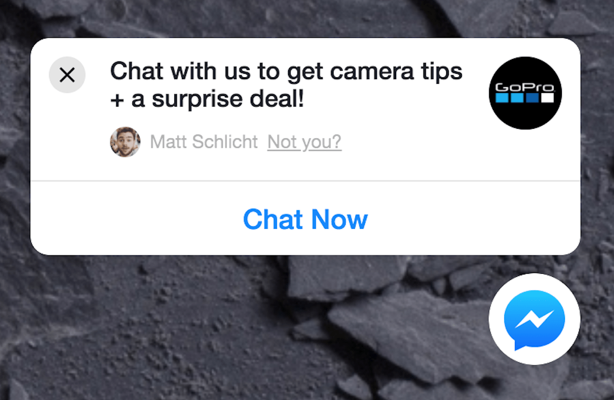 facebook messenger marketing: welcome conversation