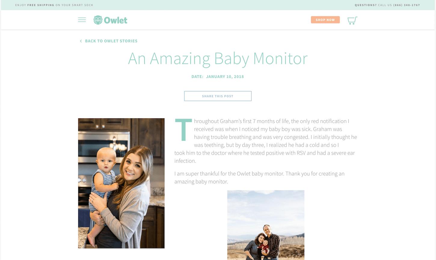 featured products: owlet stories