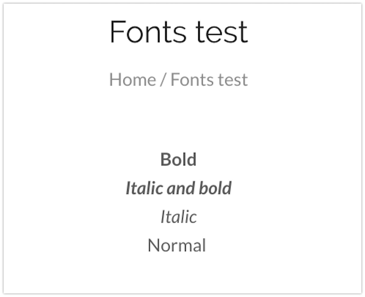 font picker: weights
