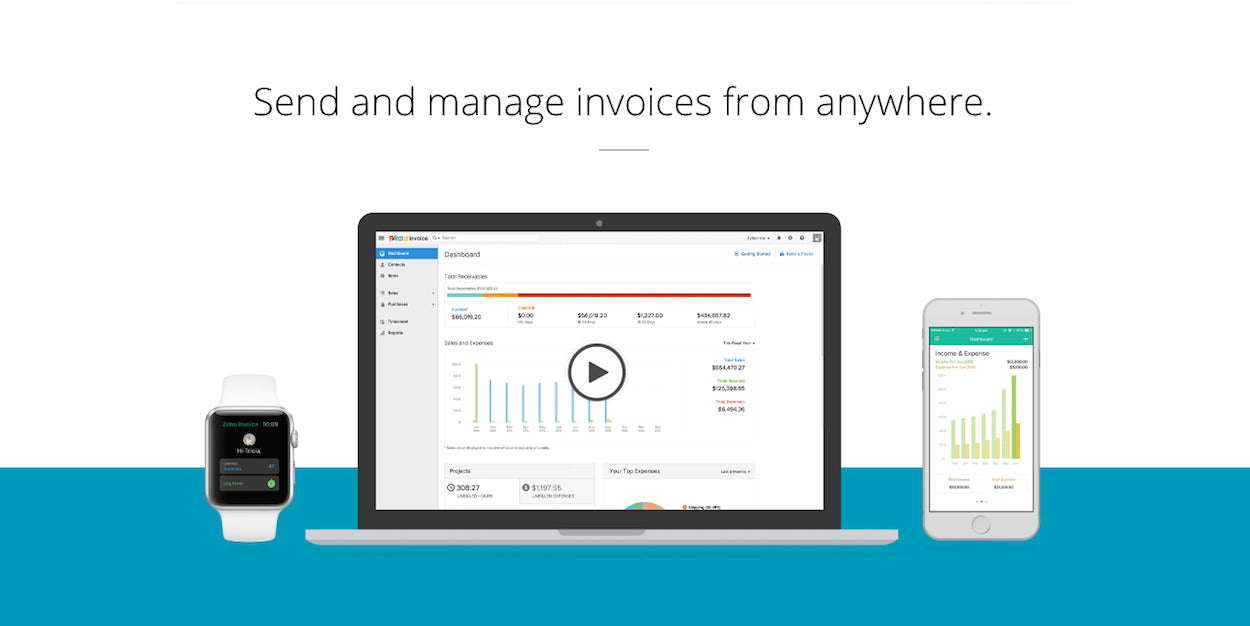 Freelancer Invoicing Tools: Zoho Invoice  Freelancer Invoice