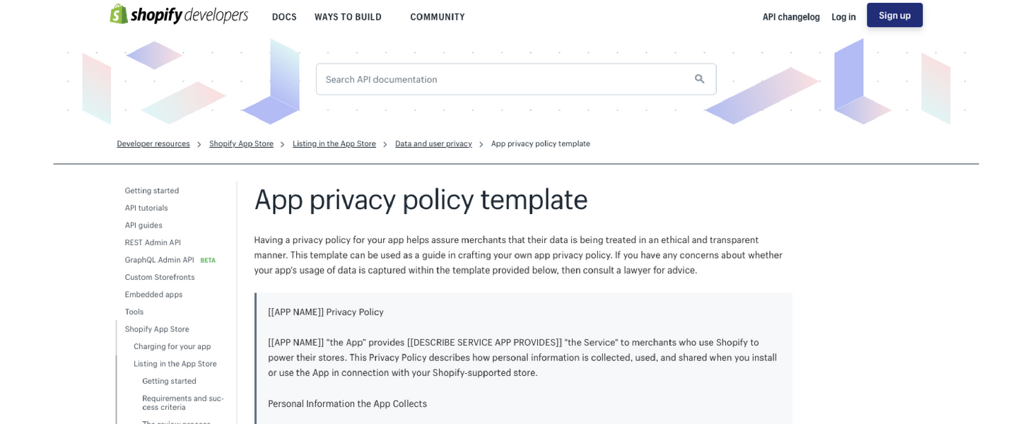 gdpr compliance: privacy policy