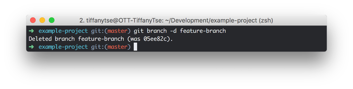 git guide: feature branch