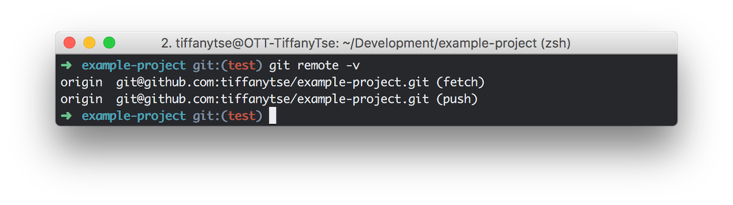 git guide: git remote