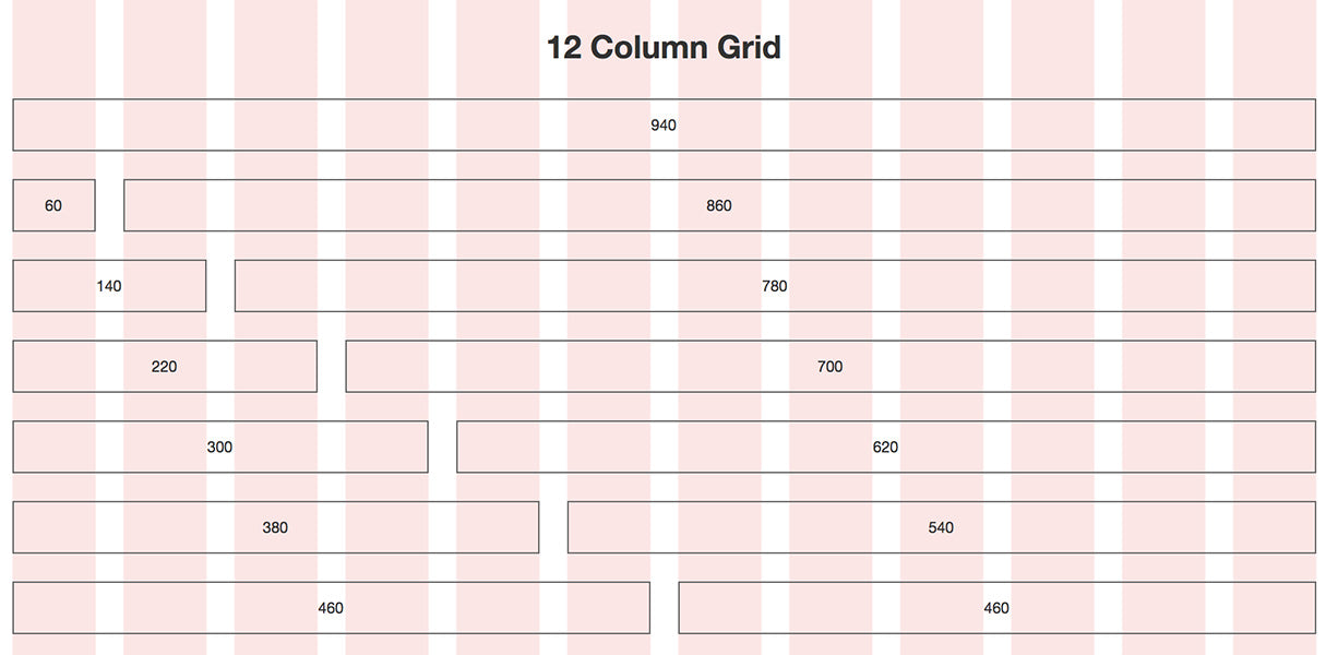 grid layout: 960