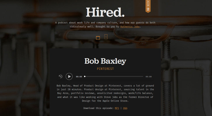 Web Design and Development Podcasts: Hired