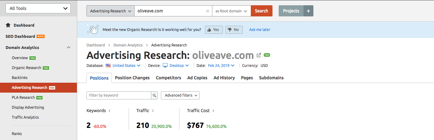 how to do a competitive analysis PPC advertising research