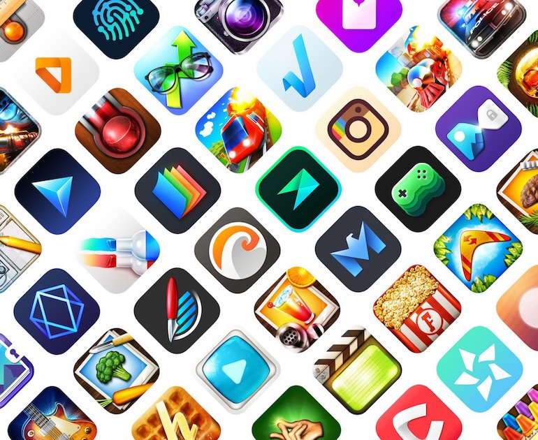A selection of different app icons to demonstrate how important they are in marketing your app.