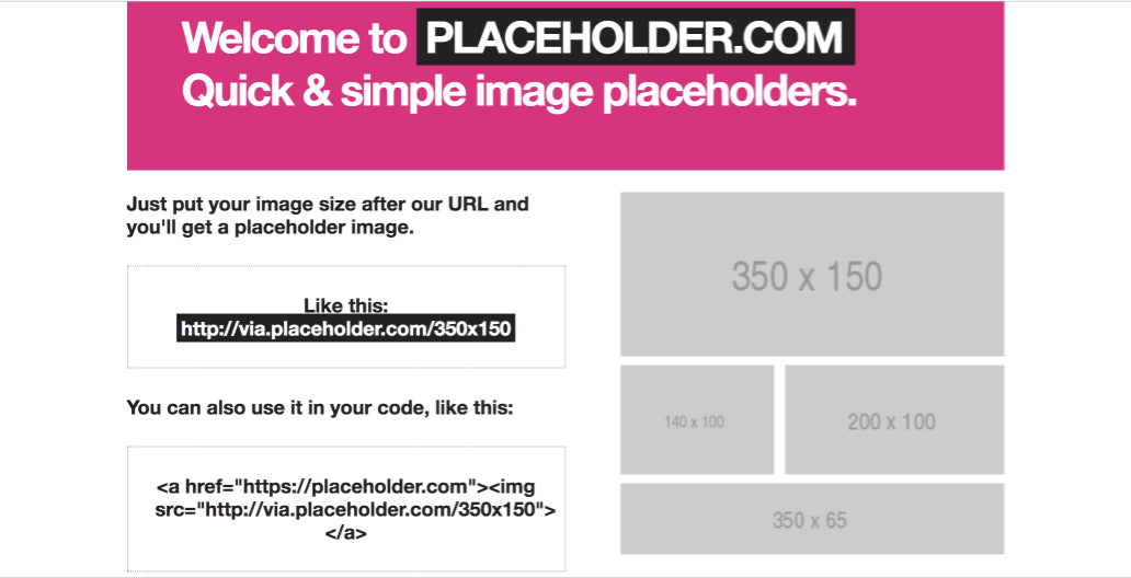 Image tools for web developers 2017: Placeholder