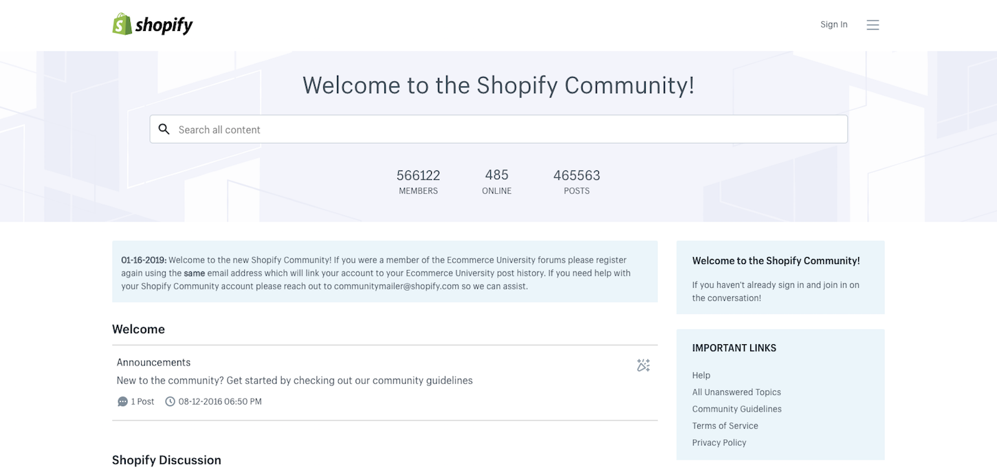 introducing-shopify-community-homepage