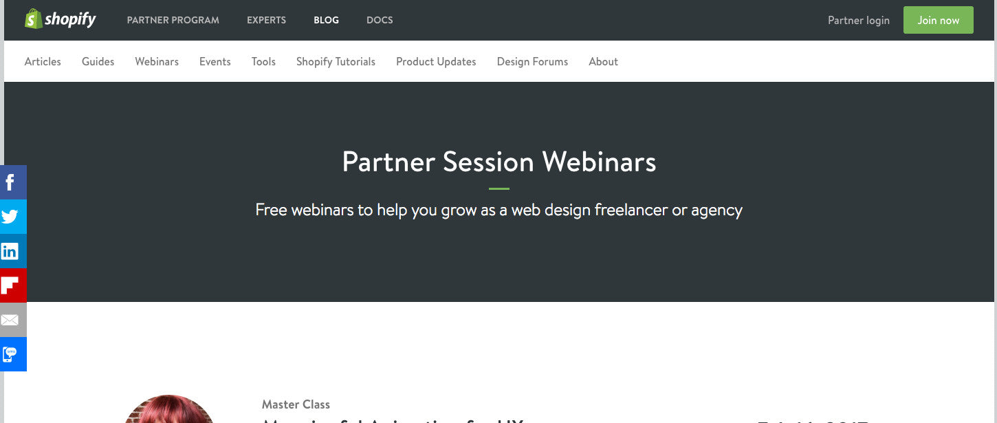Learn Web Design: Shopify Webinars