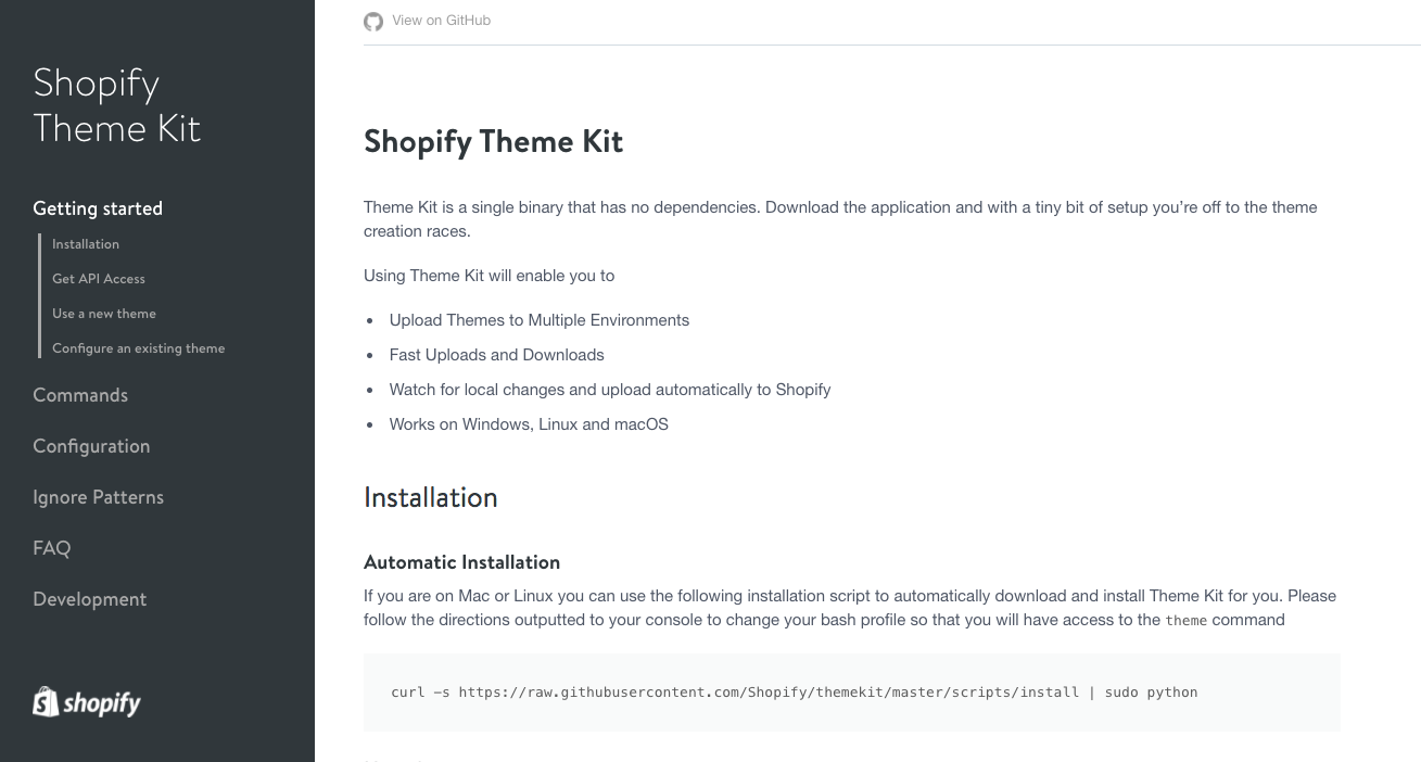 Local Shopify Theme Development Environment: Theme Kit