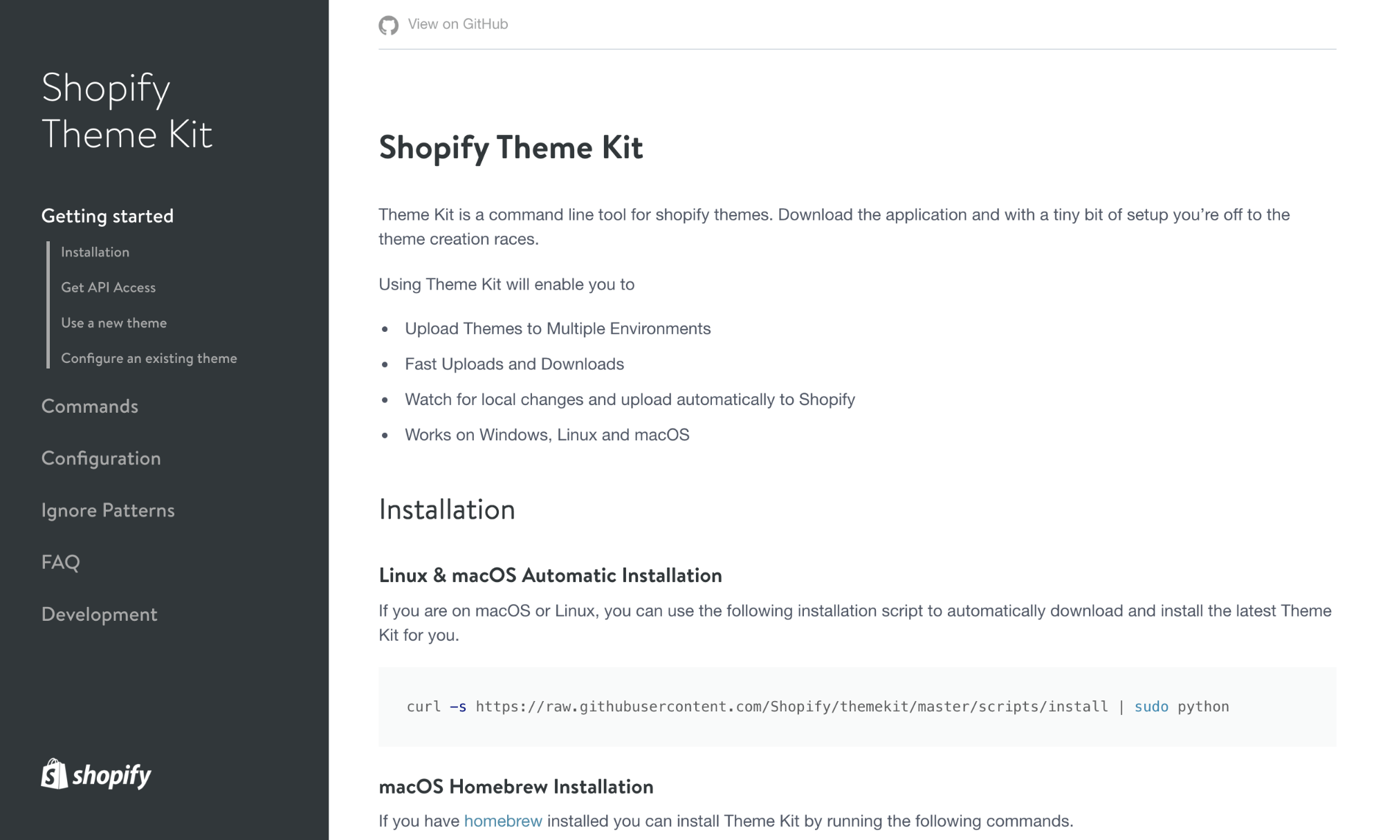 local shopify theme development: shopify theme kit