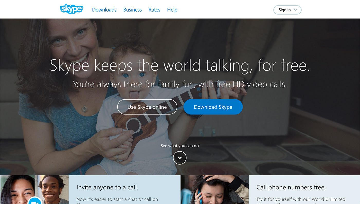 Balance Between Marketing and Design: Skype