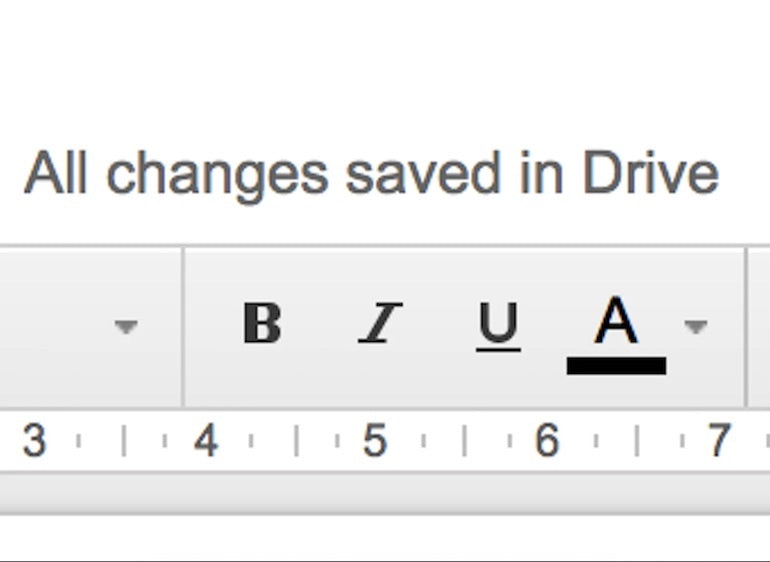 Microcopy: a screenshot of the bold, italics, underline options in a google doc displayed under the message