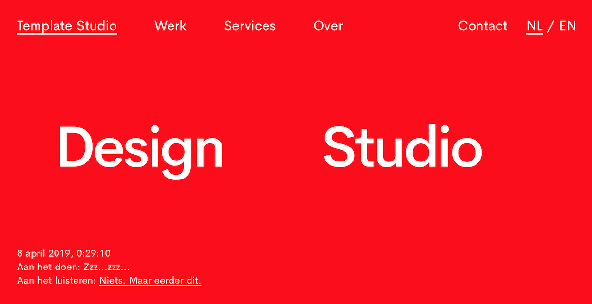minimalist web design high contrast colors