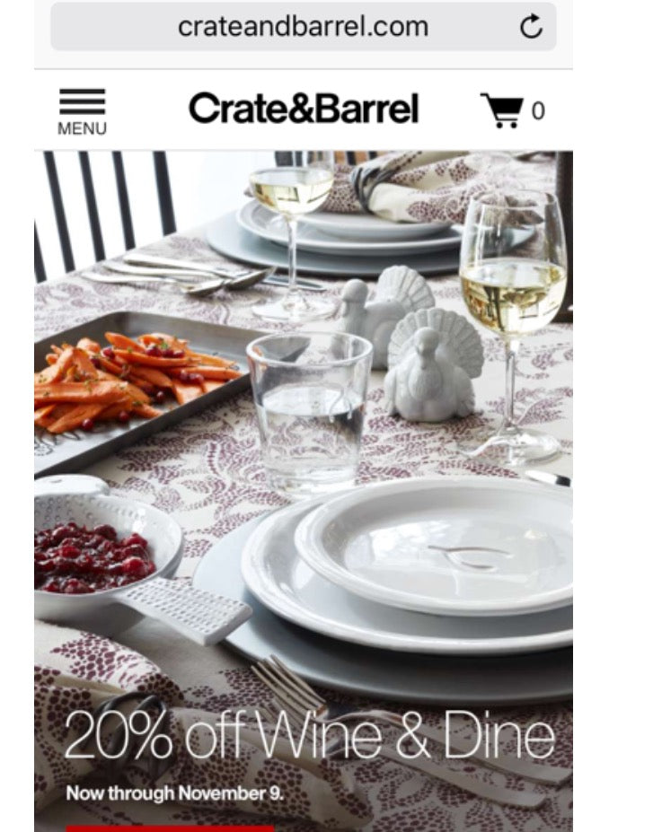 Mobile UX - Crate and Barrel