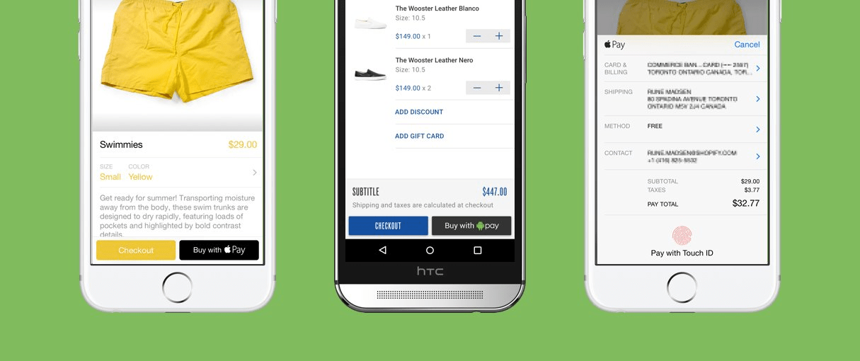 mobile design: pay support