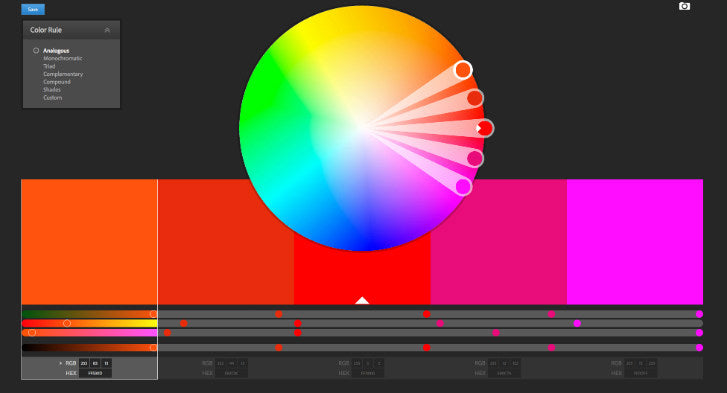 Adobe's Color Wheel