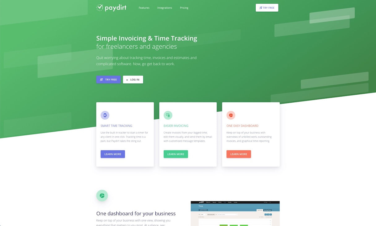 Paydirt time tracking app