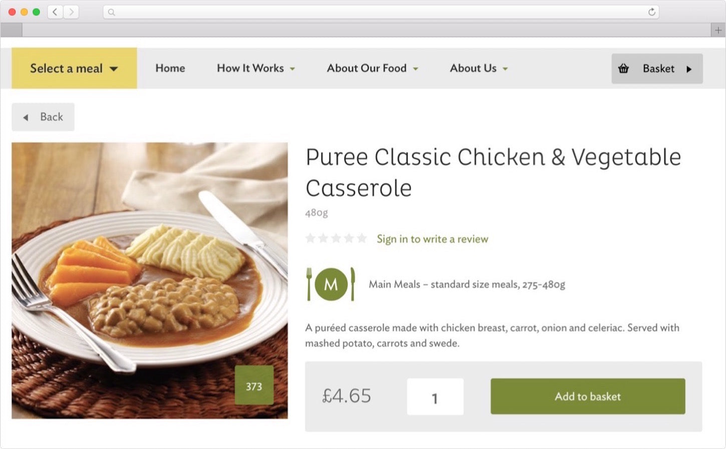 personalizing ecommerce: chicken vegetable casserole, product photography