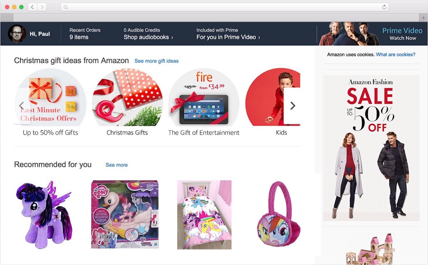 personalizing ecommerce: my little pony
