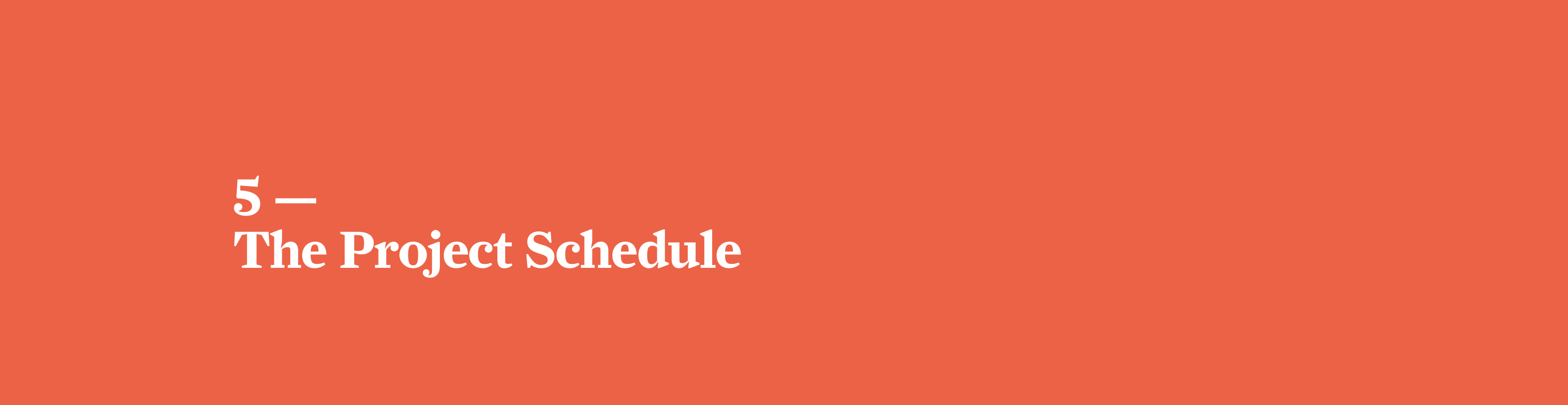 The Beginner's Guide to Web Design Project Management: The Project Schedule