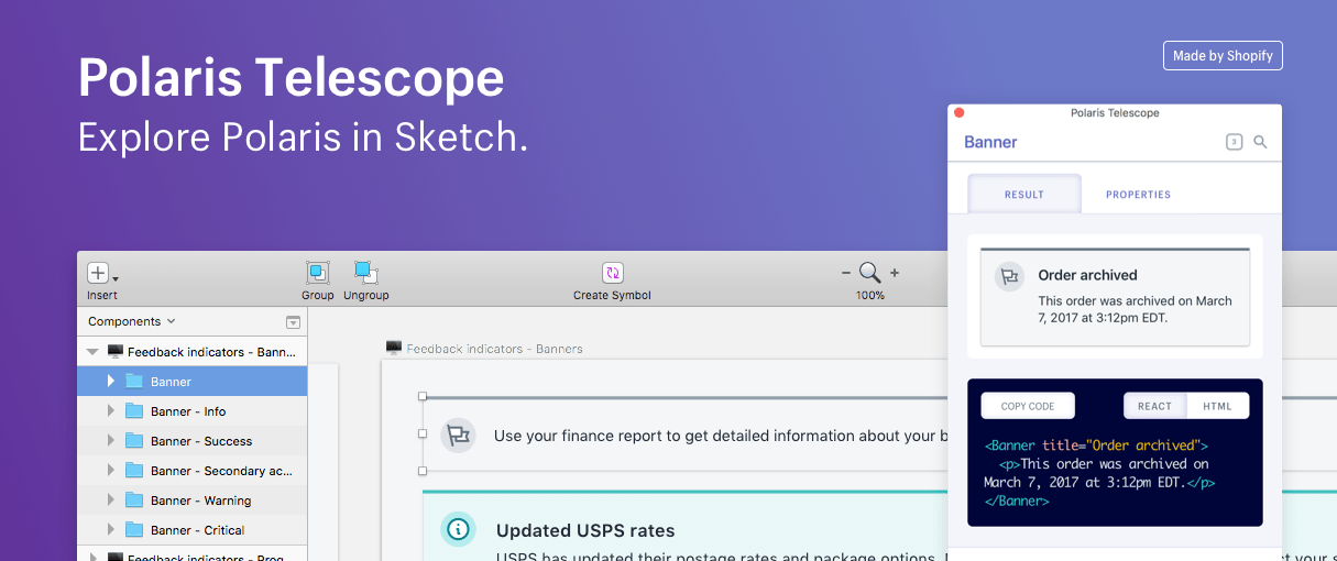 Announcing Shopify's New Sketch Plugin: Polaris Telescope