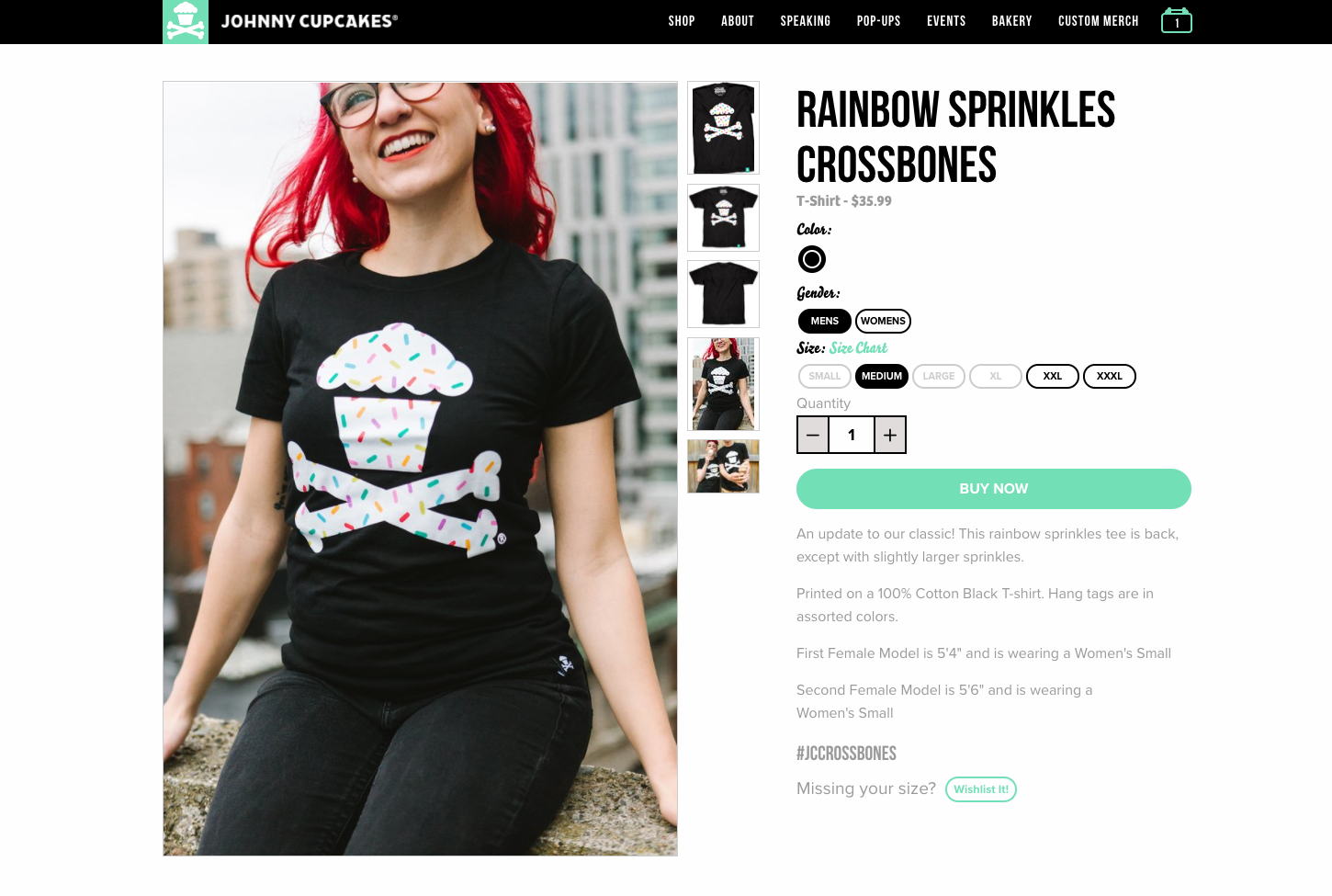 product page: johnny cupcakes 1