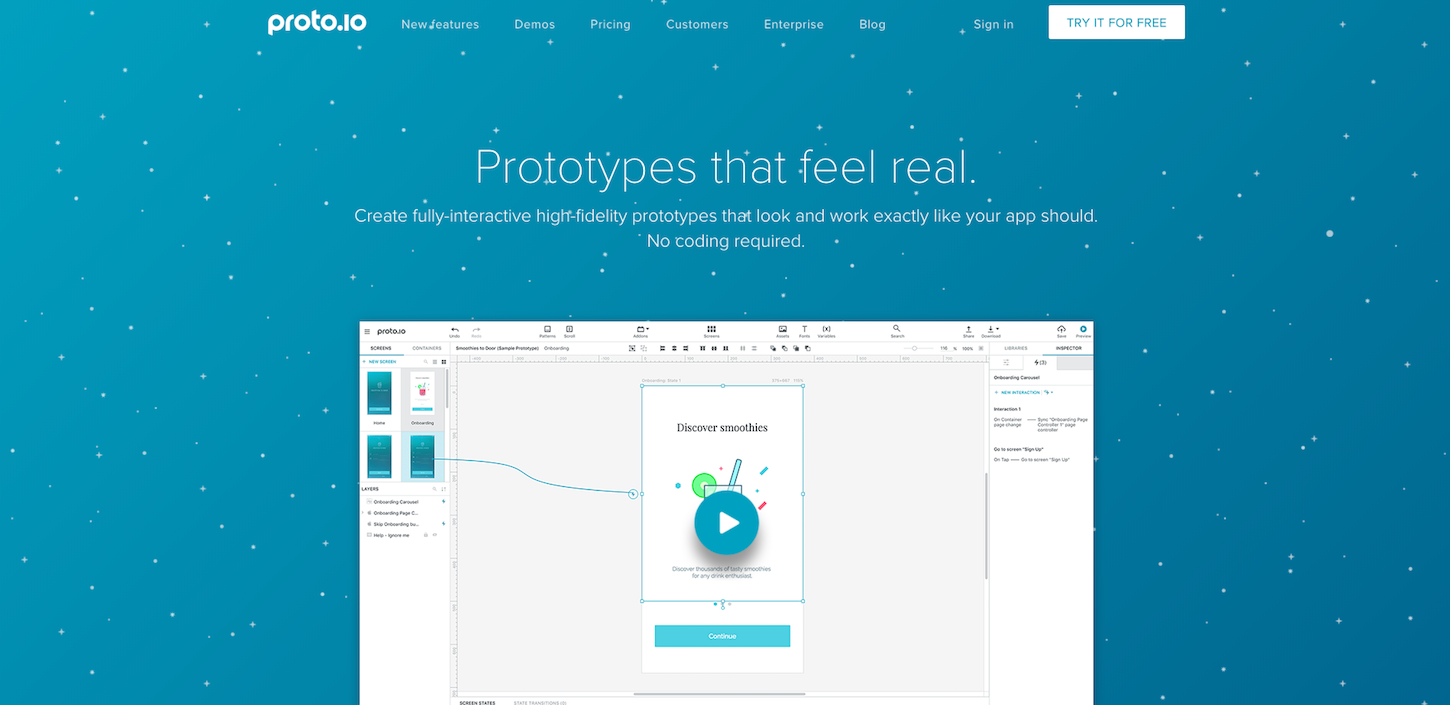prototyping tools: protoio