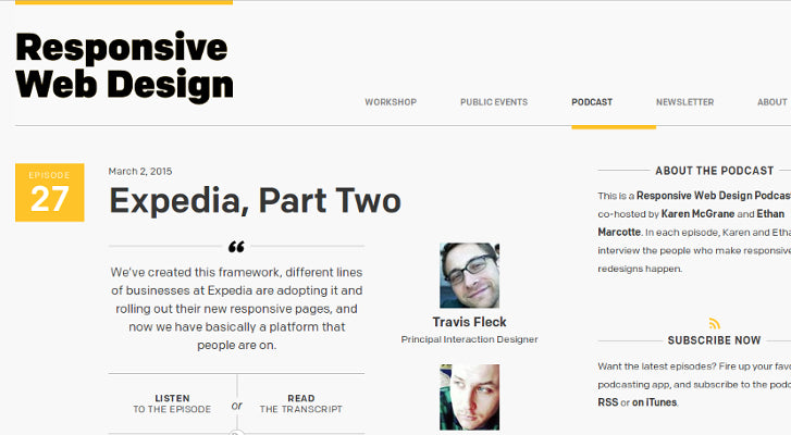 Web Design and Development Podcasts: A Responsive Web Design Podcast